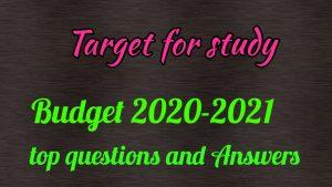 Budget 2020-2021 ke top quiz and answer